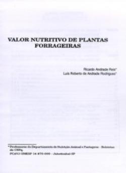 VALOR NUTRITIVO DE PLANTAS FORRAGEIRAS