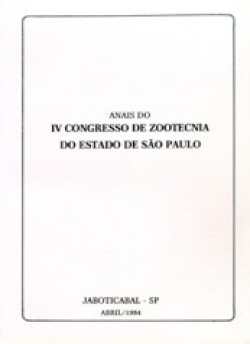 Anais do IV Congresso de Zootecnia do Estado de São Paulo