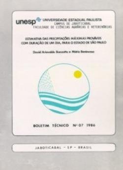 ESTIMATIVA DAS PRECIPITAÇÕES MÁXIMAS PROVÁVEIS COM DURAÇÃO DE UM DIA, PARA O ESTADO DE SÃO PAULO