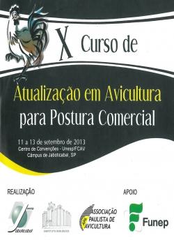 CD X Curso de Atualização em Avicultura para Postura Comercial
