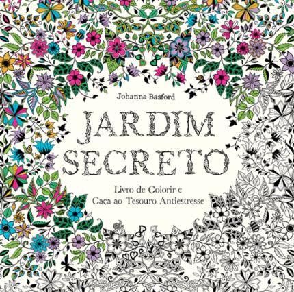 Jardim Secreto - Livro de Colorir e Caça ao Tesouro Antiestresse-0