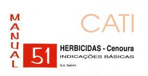 Manual 51: Herbicidas - Cenoura: Indicações básicas-0